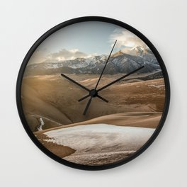 Desert Snow - Great Sand Dunes National Park Wall Clock