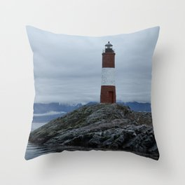 Lighthouse of the end Throw Pillow