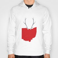 ohio state Hoodies featuring Ohio Bucks by BradBrunstetter
