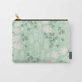 Floral Mint Pattern 013 Carry-All Pouch