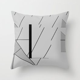 Grey Triangles Pattern Throw Pillow