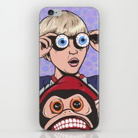 rock and roll iPhone & iPod Skins featuring Rock and Roll Martian by turddemon