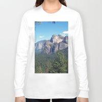 yosemite Long Sleeve T-shirts featuring YOSEMITE  by Melissa Whitman