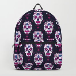 Sugar skull pattern. Mexican Day of the dead graphic. Backpack