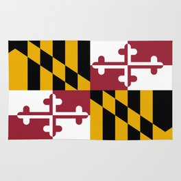 Flag of Maryland, High Quality image Rug