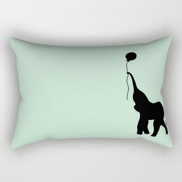 Elephant with Balloon - Mint Rectangular Pillow