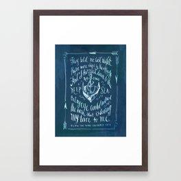 Old Sailor Song No.2 Framed Art Print