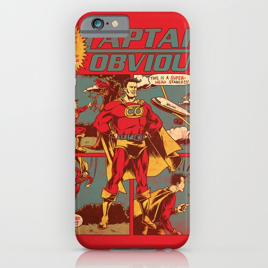 Captain Obvious! iPhone & iPod Case