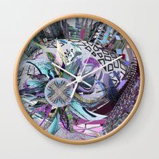 Manchester whirl Wall Clock