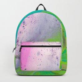 Dirty Acrylic Paint Pour 31, Fluid Art Reproduction Backpack