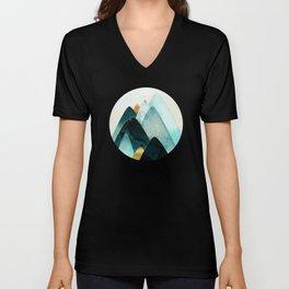 Gold and Blue Hills Unisex V-Neck