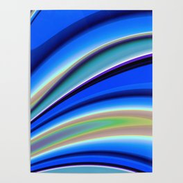 Abstract Fractal Colorways 01BL Poster