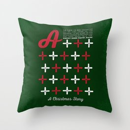 A Christmas Story - A+++++ Throw Pillow
