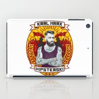 karl iPad Cases featuring Karl Marx Hipster by Ferguccio