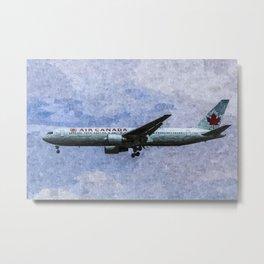 Air Canada Boeing 777 Art Metal Print