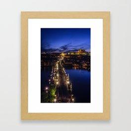 Blue Prague Evenings.. Framed Art Print