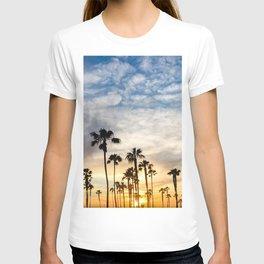 Palm Tree Love (blue and orange) T-shirt