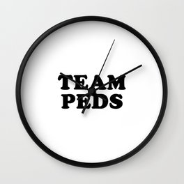TEAM PEDS Wall Clock
