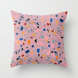 terrazzo confetti Throw Pillow