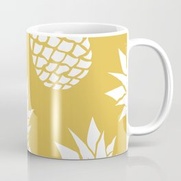Pineapple, Tropical Hawaii, Sunshine, Yellow and White Coffee Mug