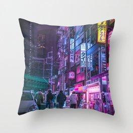 Cyberpunk Neo Tokyo Throw Pillow