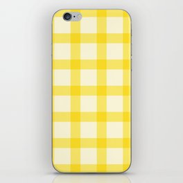 Yellow Lines Pattern iPhone Skin