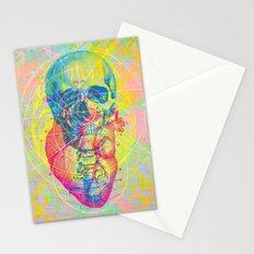 Brain Heart Skull Stationery Cards