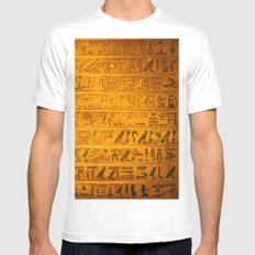Gold MEDIUM White Mens Fitted Tee