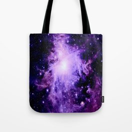 Orion nebUla. : Purple Galaxy Tote Bag