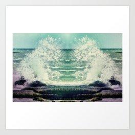 Poseidon's Fury Art Print