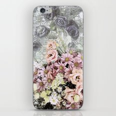 Delicate dreamy pastel floral iPhone & iPod Skin