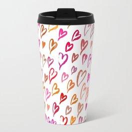 Colourful hearts seamless pattern Travel Mug