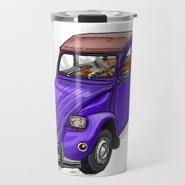 Purple 2CV Travel Mug