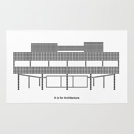 Corbu - A is for Architecture Rug
