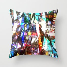 Light Streaming Through Stained Glass Throw Pillow
