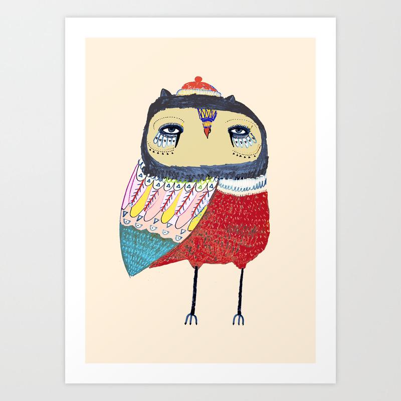 Sweet Owl. Owl, Owl Art, Owl Print, Owls Art Print by Ashleypercival PRN625738