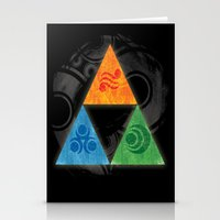 triforce Stationery Cards featuring Zelda Triforce by Bradley Bailey