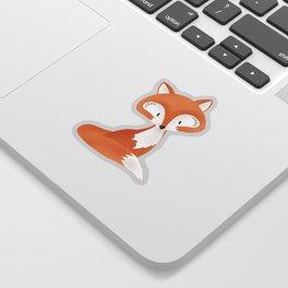 Cute fox kids illustration on white background Sticker