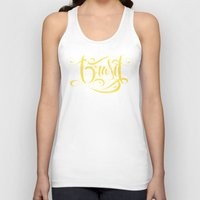 brasil Tank Tops featuring Brasil Lettering Inverted by Roberlan Borges