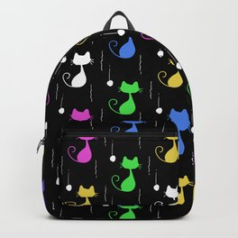 Colourful and Cute Cat Pattern Backpack