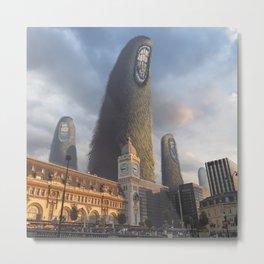 Monstre géants au dessus de la Gare de Lyon Metal Print