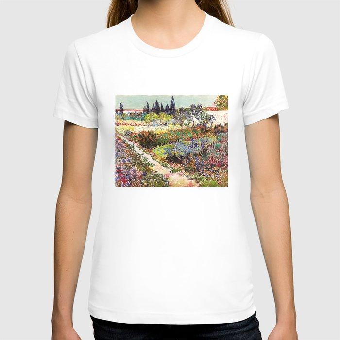 Vincent Van Gogh Flowering Garden T Shirt