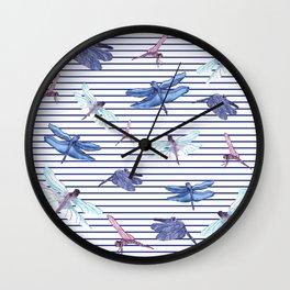 Dragonfly stripes Wall Clock