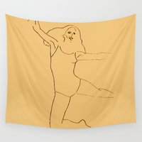 dancer Wall Tapestries featuring Dancer by Abundance