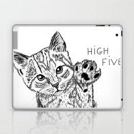 Kitten high five Laptop & iPad Skin