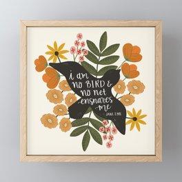 I Am No Bird Jane Eyre Quote Framed Mini Art Print