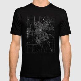 Minimal Winnipeg Canada Manitoba City Map Tee T-shirt