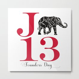 J13 Founders Day with Elephant Metal Print