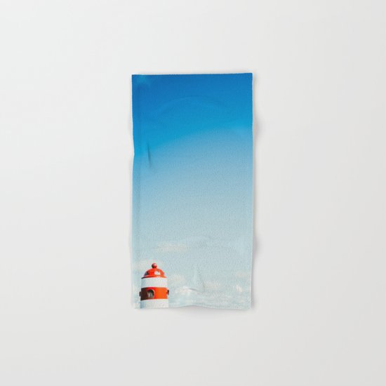 Red White Lighthouse Hand & Bath Towel