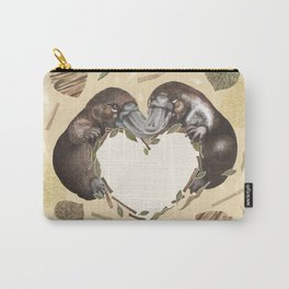 Cute platypus in natural colors Carry-All Pouch
